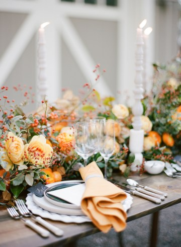 Rustic Fall Wedding Inspiration by Sylvia Gil Photography and Kate Siegel 13