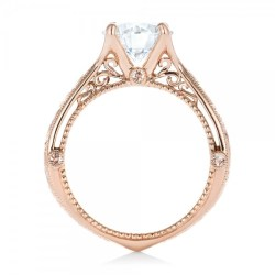 Custom Diamond and Rose Gold Engagement Ring by Joseph Jewelry