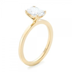 Custom Yellow Gold Solitaire Diamond Engagement RIng by Joseph Jewelry