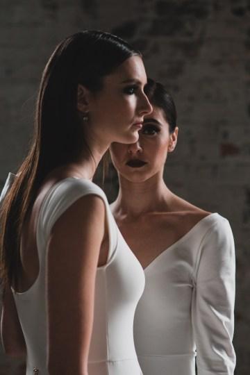 Moody & Modern Warehouse Wedding Inspiration by Jonathan Kuhn Photography 11