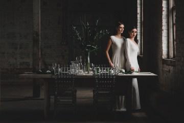 Moody & Modern Warehouse Wedding Inspiration by Jonathan Kuhn Photography 22