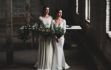 Modern & Moody Warehouse Wedding Inspiration