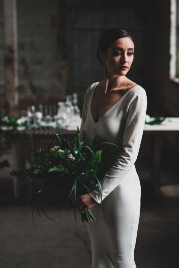 Moody & Modern Warehouse Wedding Inspiration by Jonathan Kuhn Photography 25