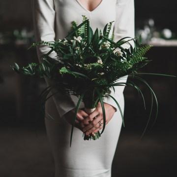 Moody & Modern Warehouse Wedding Inspiration by Jonathan Kuhn Photography 26