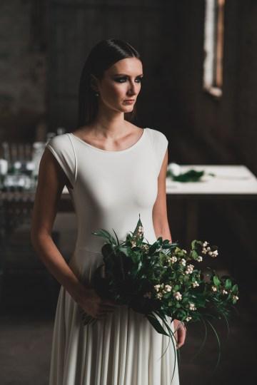 Moody & Modern Warehouse Wedding Inspiration by Jonathan Kuhn Photography 28