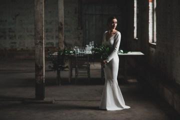 Moody & Modern Warehouse Wedding Inspiration by Jonathan Kuhn Photography 3
