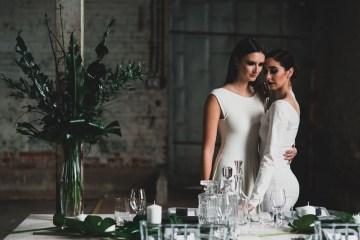 Moody & Modern Warehouse Wedding Inspiration by Jonathan Kuhn Photography 30