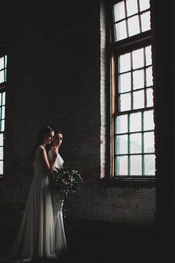 Moody & Modern Warehouse Wedding Inspiration by Jonathan Kuhn Photography 34