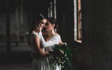 Moody & Modern Warehouse Wedding Inspiration by Jonathan Kuhn Photography 37