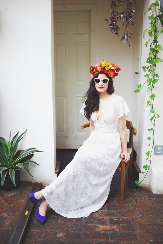 Cool Fiesta Wedding Inspiration by Claire Eliza Photography and High Violet Flowers 35