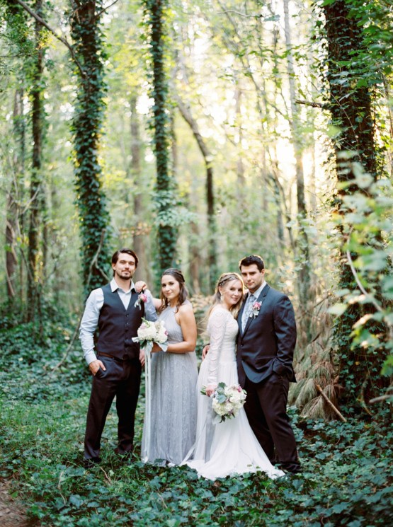 Woodland Wedding Inspiration by Molly Lichten Photography and Jamie Leigh Events 15