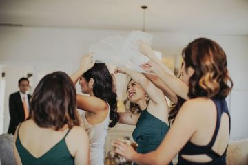 Glamorous & Stylish Wedding by Katie Branch Photography and Jen Kruger Design 8