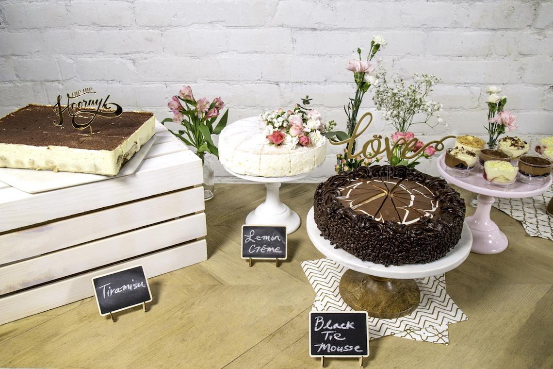 how to create a diy bridal shower dessert bar
