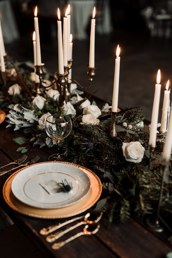 Moody Winter Wedding Inspiration by Kelcy Leigh Photography 10