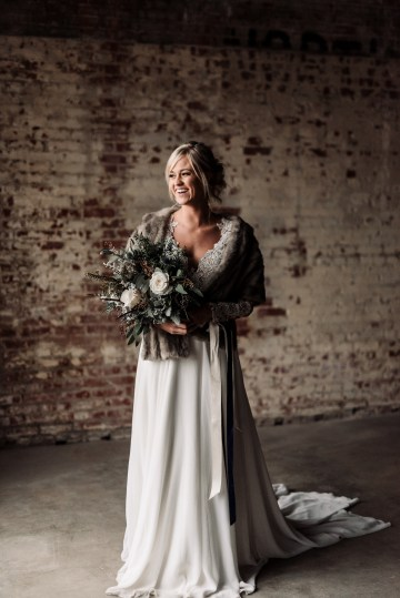 Moody Winter Wedding Inspiration by Kelcy Leigh Photography 17