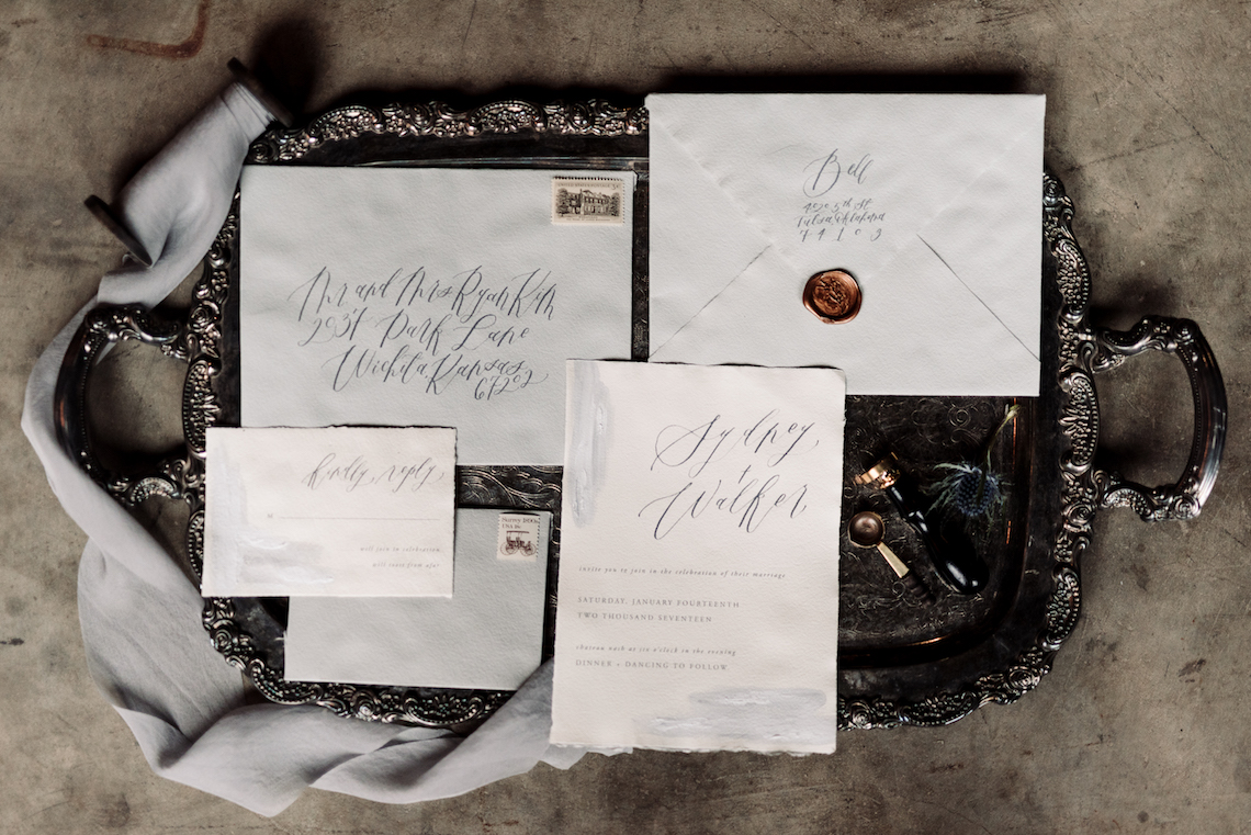 Moody Winter Wedding Inspiration by Kelcy Leigh Photography 2