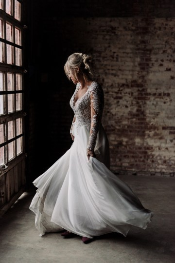 Moody Winter Wedding Inspiration by Kelcy Leigh Photography 21