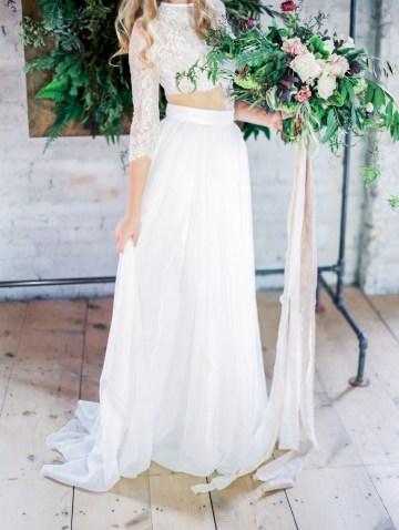 Pretty Warehouse Wedding Inspiration by Natashia Nicole Photography 22