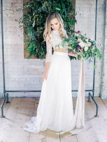 Pretty Warehouse Wedding Inspiration by Natashia Nicole Photography 29