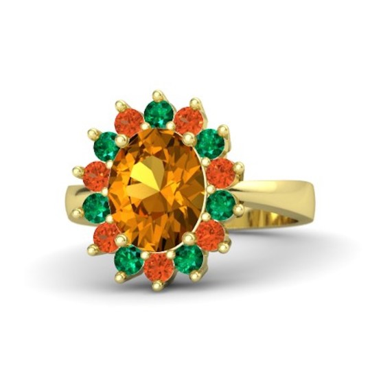 oval-citrine-14k-yellow-gold-ring-with-fire-opal-and-emerald