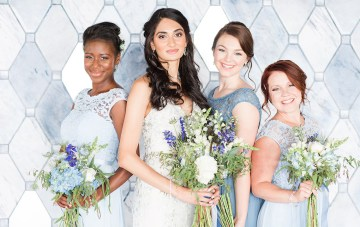 Fresh & Modern 'Something Blue' Wedding Inspiration Shoot