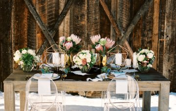 Modern Geometric Winter Wedding Inspiration
