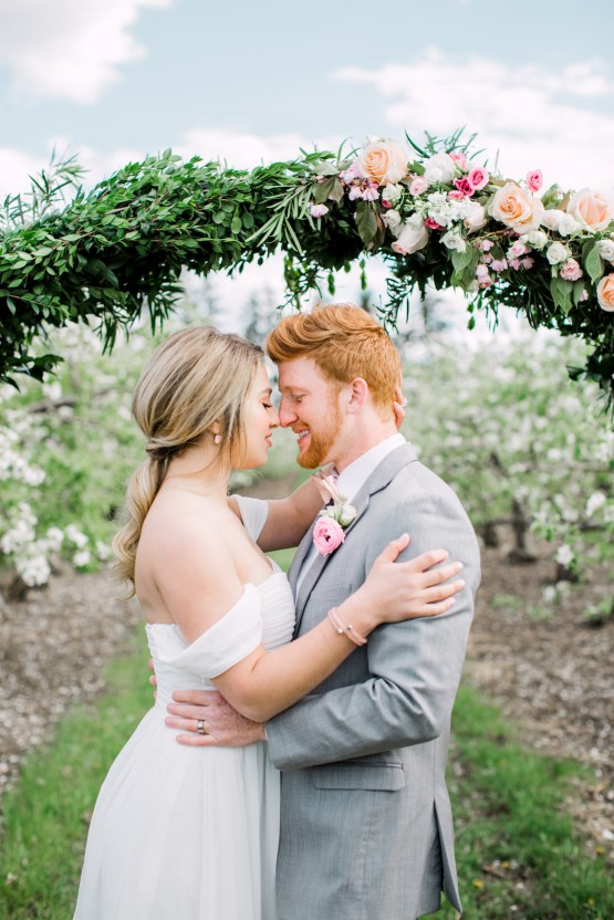 Bright and Colorful Apple Blossom Orchard Wedding Inspiration | Shanell Photography & Mitten Weddings and Events 10