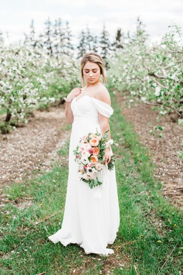 Bright and Colorful Apple Blossom Orchard Wedding Inspiration | Shanell Photography & Mitten Weddings and Events 27
