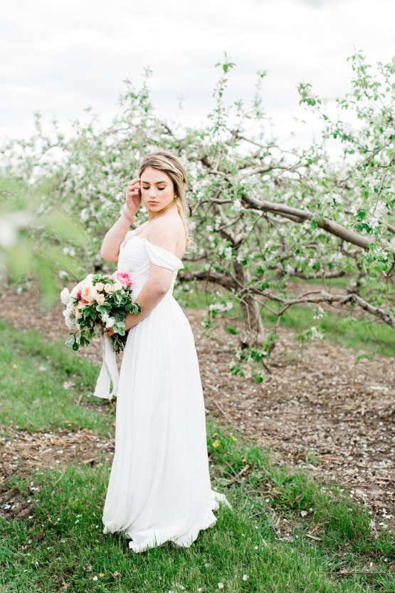 Bright and Colorful Apple Blossom Orchard Wedding Inspiration | Shanell Photography & Mitten Weddings and Events 28