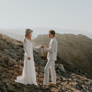 Free-Spirited & Panoramic Boho Wedding Inspiration   Sara Cuadrado and El Ramo Volador 6