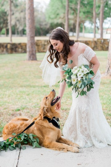 Gilded Florida Farm Wedding with an Adorable Golden Pup | Lauren Galloway Photography 15