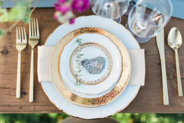Romantic Gold, Grey and Berry Vineyard Wedding Inspiration | Jenny Quicksall & An Enlightened Event 68