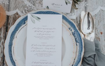 Stormy Scandinavian Wedding Inspiration Featuring a Dramatic Blue Gown | Snowflake Photo 35