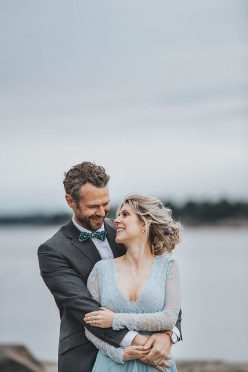 Stormy Scandinavian Wedding Inspiration Featuring a Dramatic Blue Gown | Snowflake Photo 39
