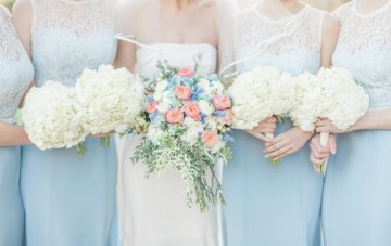 Elegant Cornflower Blue & Peach Wedding At Blenheim Palace