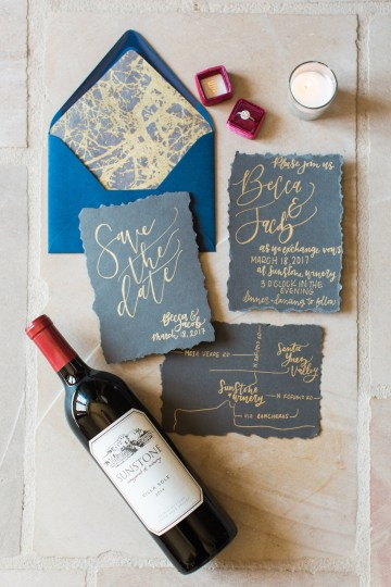 Romantic Gold, Grey and Berry Vineyard Wedding Inspiration | Jenny Quicksall & An Enlightened Event 10