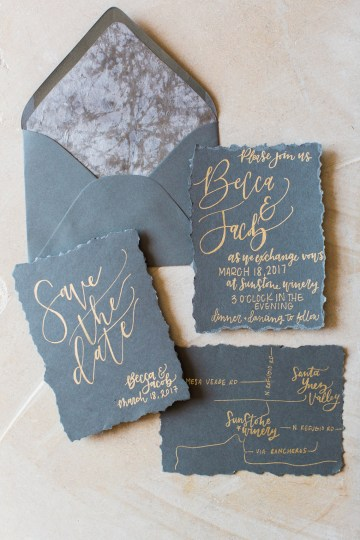 Romantic Gold, Grey and Berry Vineyard Wedding Inspiration | Jenny Quicksall & An Enlightened Event 8