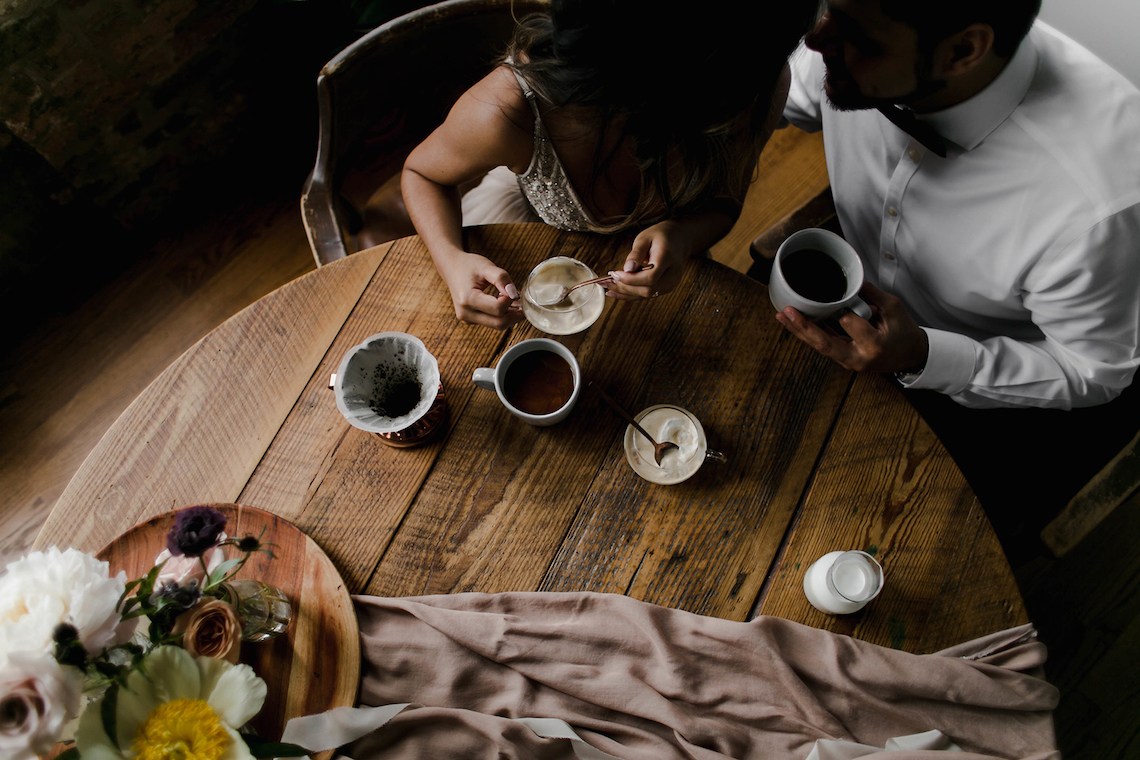 Cozy & Intimate Coffee Shop Elopement Inspiration   Grace Niu Avila 4