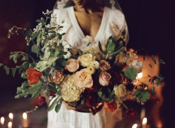 Romantic Candlelit Wedding Inspiration Full of Drama | Megan Wynn 2