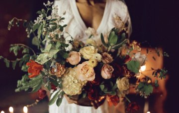 Romantic Candlelit Wedding Inspiration Full of Drama