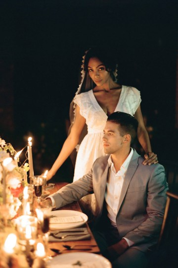 Romantic Candlelit Wedding Inspiration Full of Drama | Megan Wynn 42
