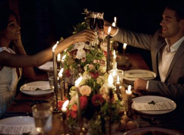Romantic Candlelit Wedding Inspiration Full of Drama | Megan Wynn 5