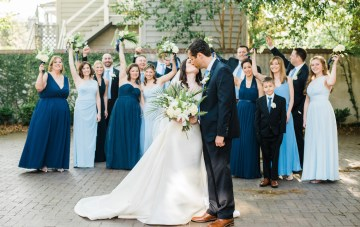 Shades of Blue Tropical Inspired Charleston Wedding