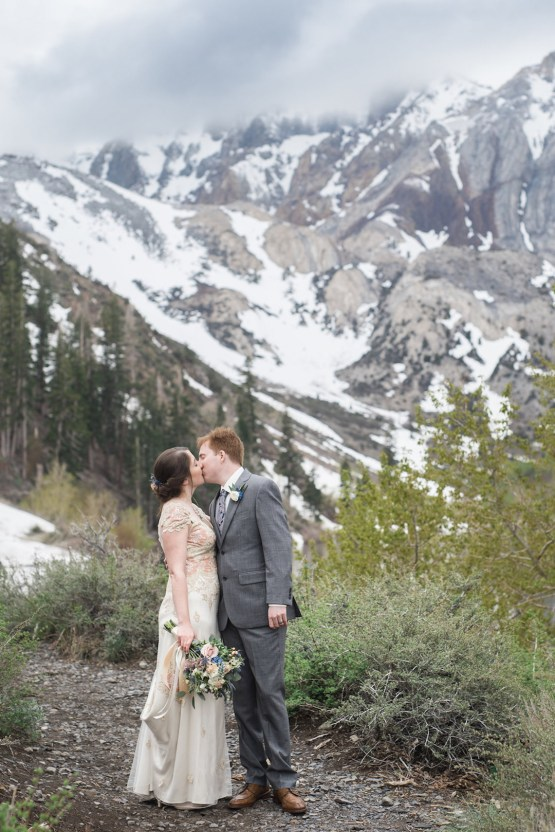 Snowy Mountain Wedding With A Pink & White Vintage Inspired Gown | Victoria Johansson 40