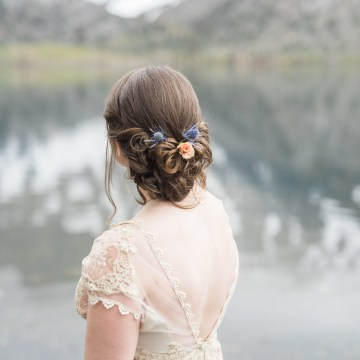 Snowy Mountain Wedding With A Pink & White Vintage Inspired Gown | Victoria Johansson 44