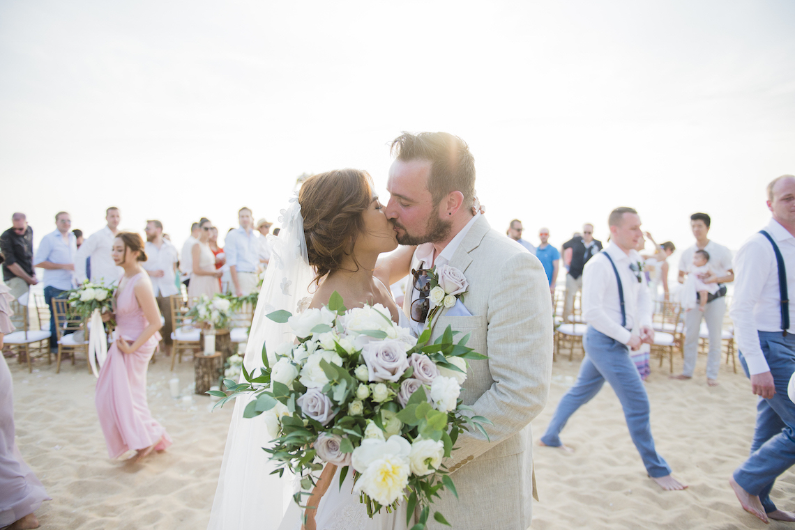 The Dreamiest Sunset Beach Wedding in Thailand | Darin Images 15