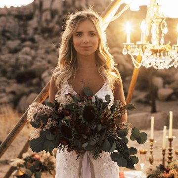 Boho Chic Elopement Inspiration with a Cool Teepee Altar | Maya Lora Photography 25