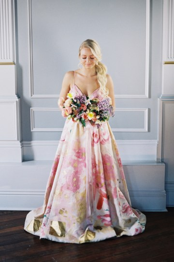 Bright & Colorful Wedding Inspiration With An Incredible Floral Dress | Rosencrown Photography 19