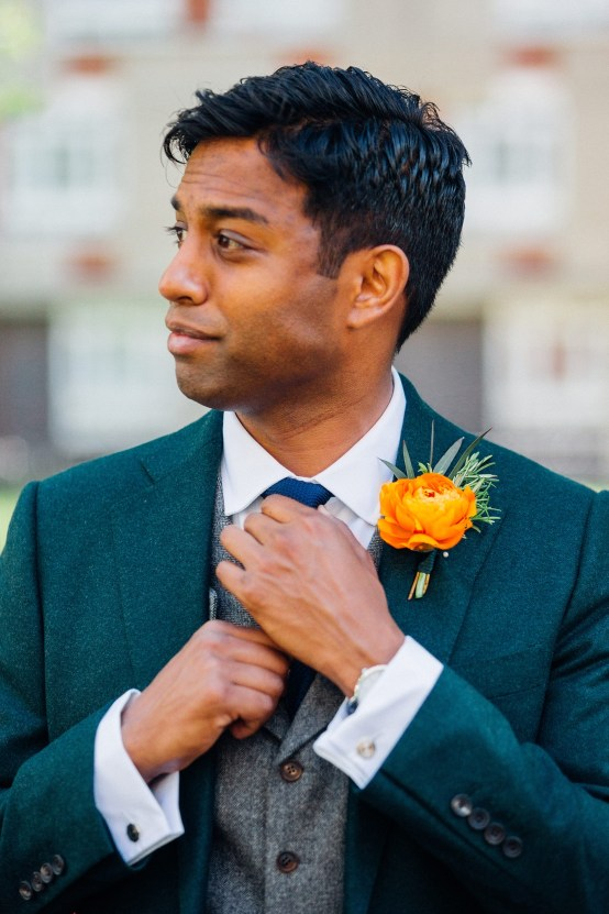 Colorful Anglo-Hindu Fusion Wedding With A Parade Of Indian Drummers | Parrot and Pineapple Photography 29