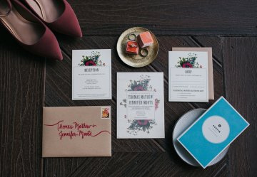 Colorful & Eclectic Americana Wedding in Texas | Amber Vickery Photography 3